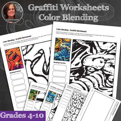 Graffiti Worksheets - Color Blending