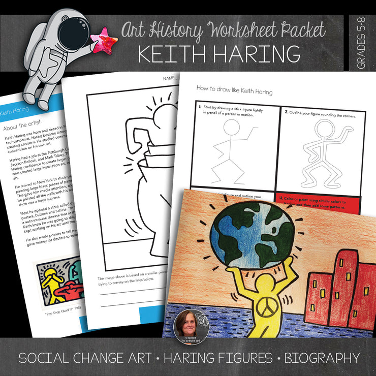 Keith Haring Art History Workbook & Art Activities - Art Distance Learning