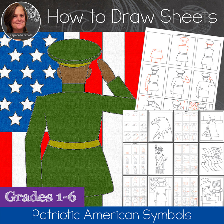How to Draw American Icons: Presidents Day, Veteran's Day, Memorial Day