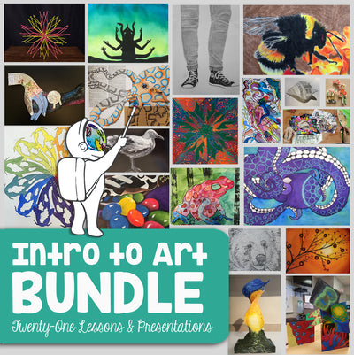 Introduction to Art Lesson Bundle - 21 Secondary Art Lessons