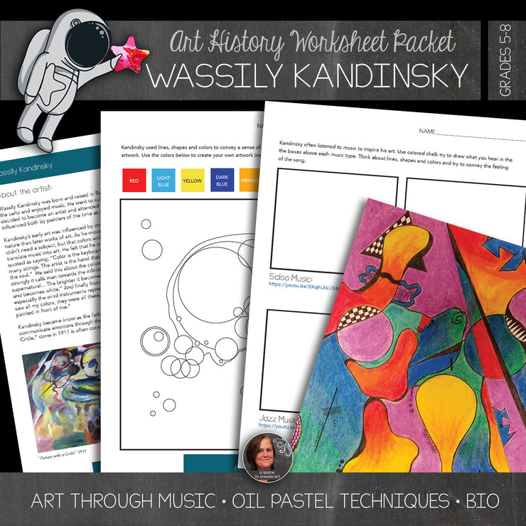 Wassily Kandinsky Art History Workbook and Art Biography Unit-Abstract Art