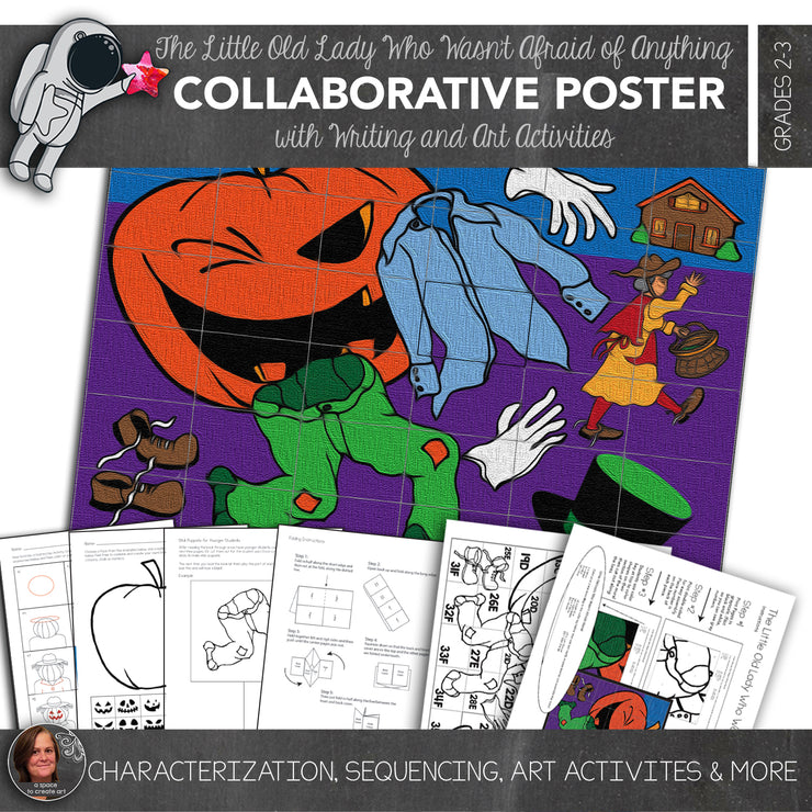The Little Old Lady Who Wasn't Afraid of Anything Collaborative Poster and Writing Activities