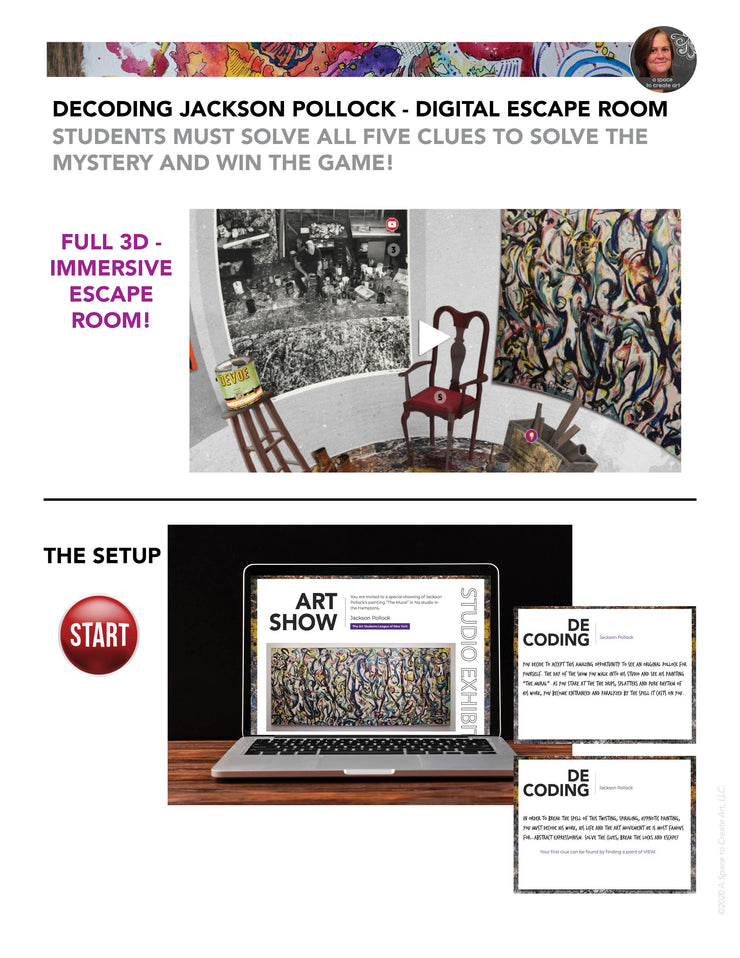 Decoding Jackson Pollock Digital Escape Room