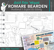 Romare Bearden Sketch Notes for Visual Art Worksheet - Art Webquest Activity