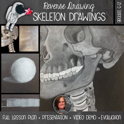 Value Reversal Drawing - Skeleton Drawing