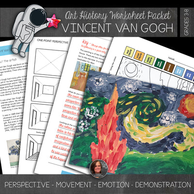 Van Gogh Art History Workbook with Video Demonstration