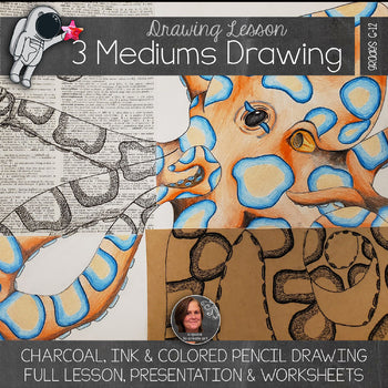 Three Mediums Drawing Lesson