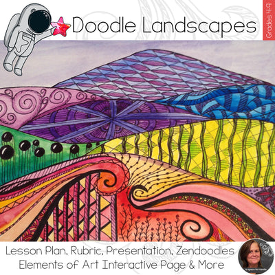 Pattern Landscapes Art Lesson
