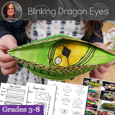 Blinking Dragon Eyes Origami Art Lesson