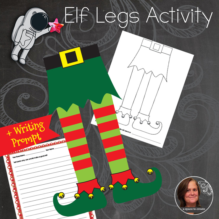 Christmas Elf Legs Art Activity