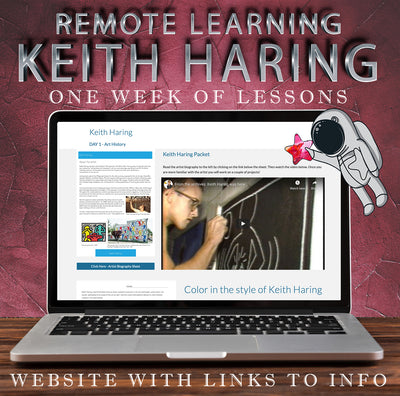 Visual Art Distance Learning Online - Keith Haring - One Week Unit