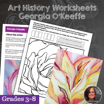 Georgia O'Keeffe Art History Workbook and Activities - Watercolor