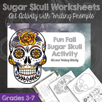 Sugar Skull Worksheets and Writing