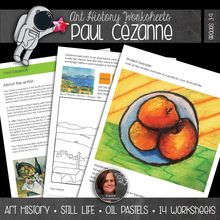 Paul Cézanne Art History Workbook and Activities - Still life drawing