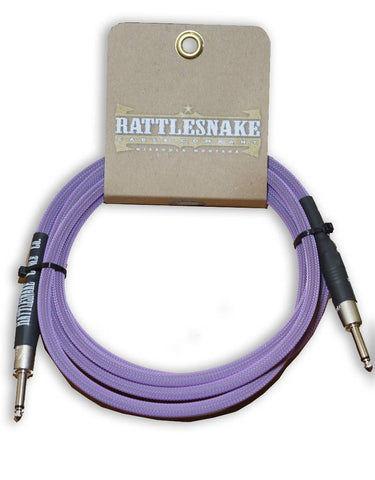 Rattlesnake Cable Co. 10 feet standard cable purple weave