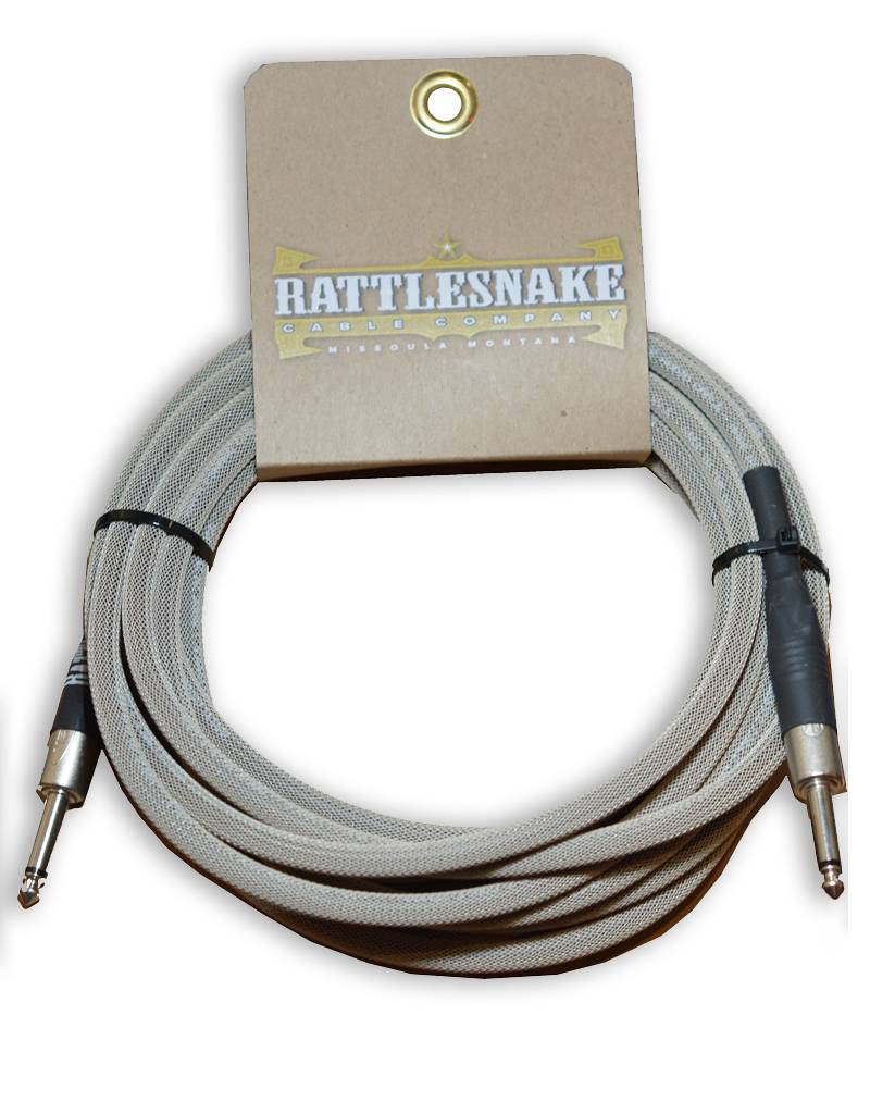 Rattlesnake Cable Co. 15 feet standard cable dirty tweed weave