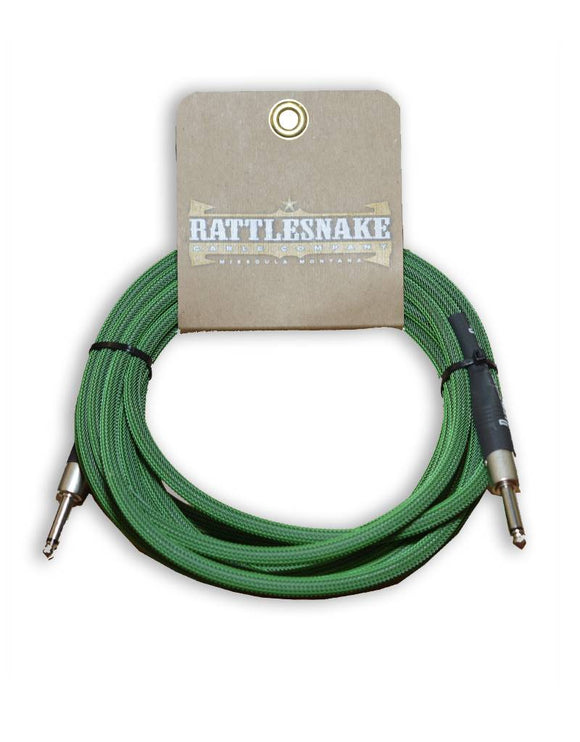 Rattlesnake Cable Co. 15 feet standard cable green weave