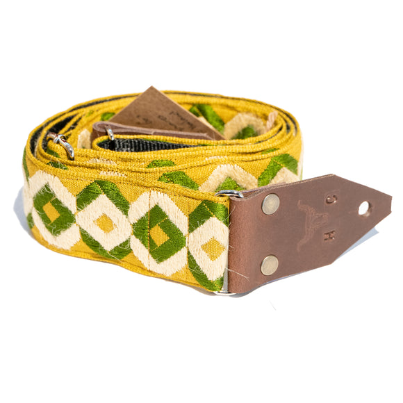 Holy Cow Real Vintage 60's green squares strap