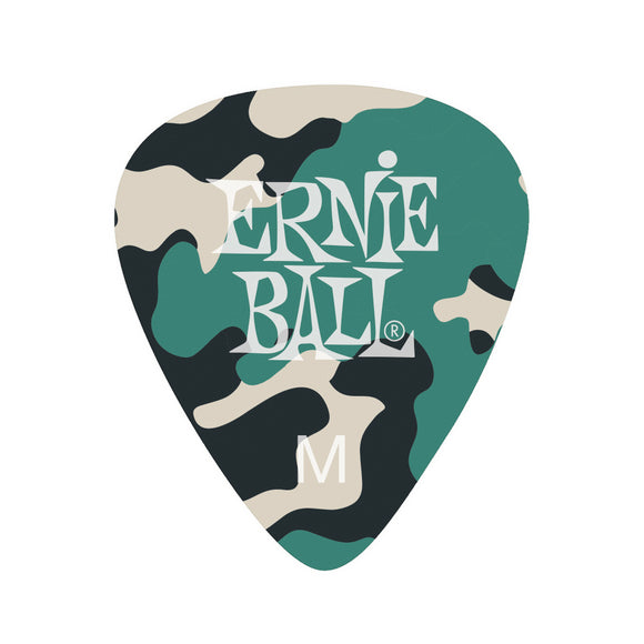 Ernie Ball Celluloid camouflage picks 12-pack medium