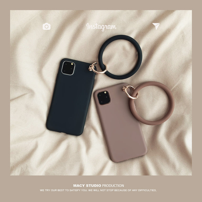 Plain Color Phone Case with Circle Bracelet - Narce Cases