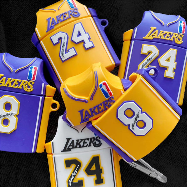 Lakers Jersey No. 24 AirPods Protective Case Cover - Narce Cases