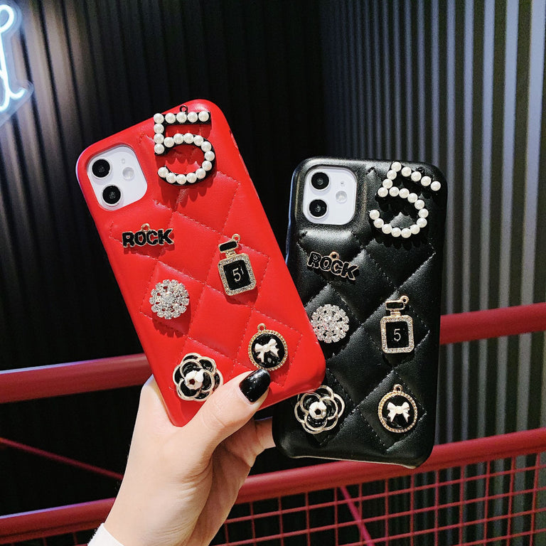 Luxury Badges Leather Phone Case - Narce Cases