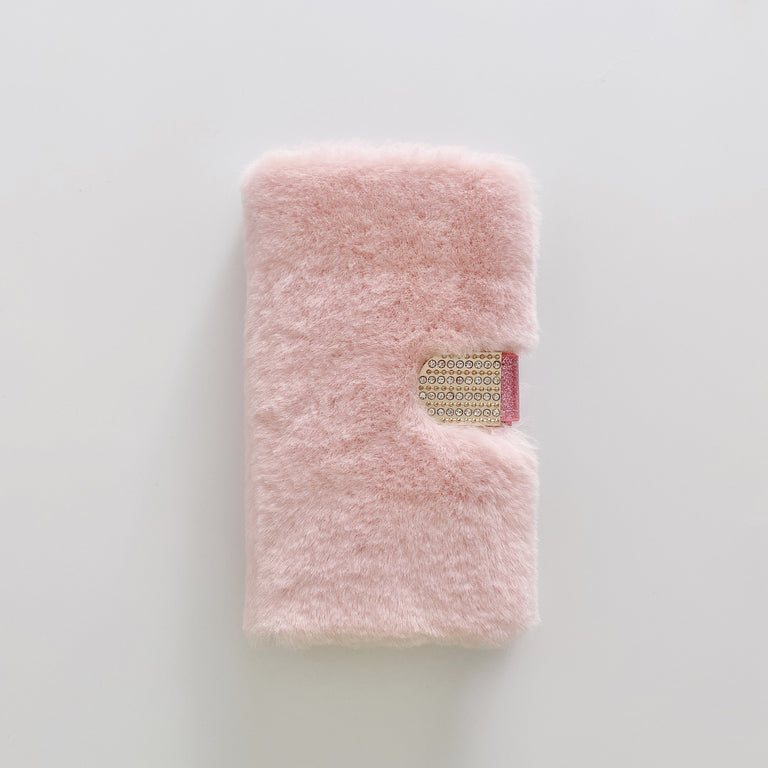 iPhone 12 Plush with Diamond Button Phone Case - Narce Cases