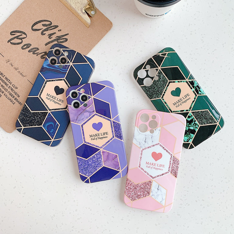 Sweet Heart Marble Phone Case - Narce Cases