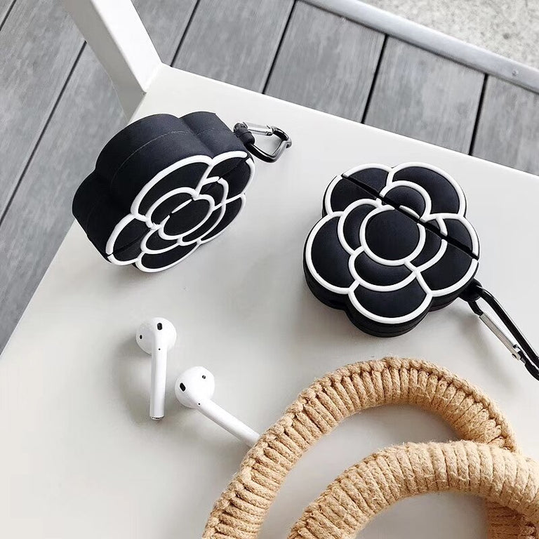 3D Classic Camellia Flower Apple AirPods Protective Case Cover - Narce Cases