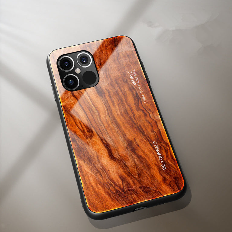 Wood Grain Glass Phone Case - Narce Cases