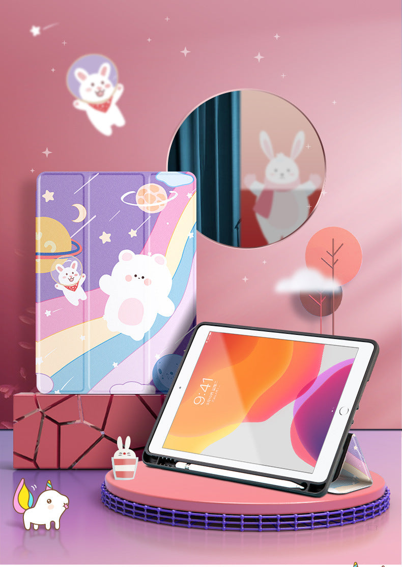 Cute Soft iPad Case with Pencil Holder - Narce Cases