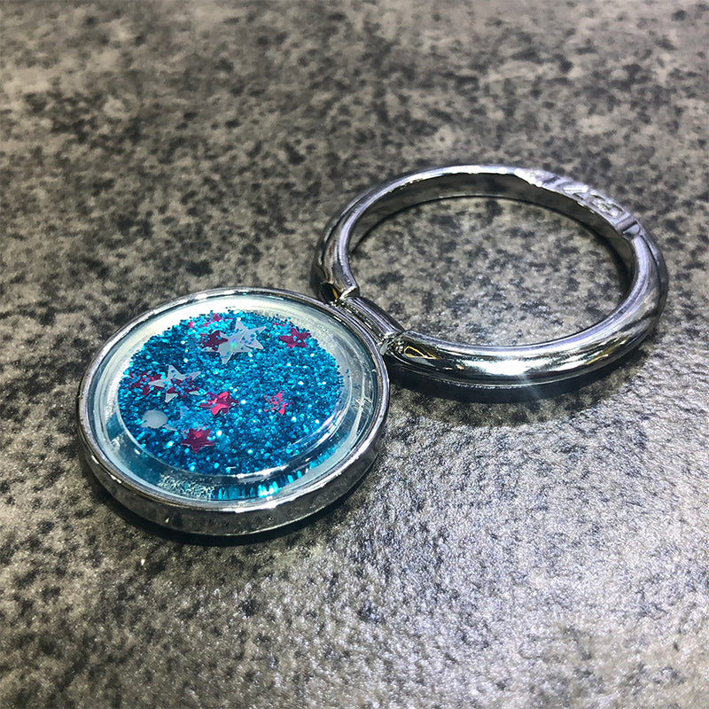 Quicksand Glitter Phone Ring Holder Finger Kickstand - Narce Cases