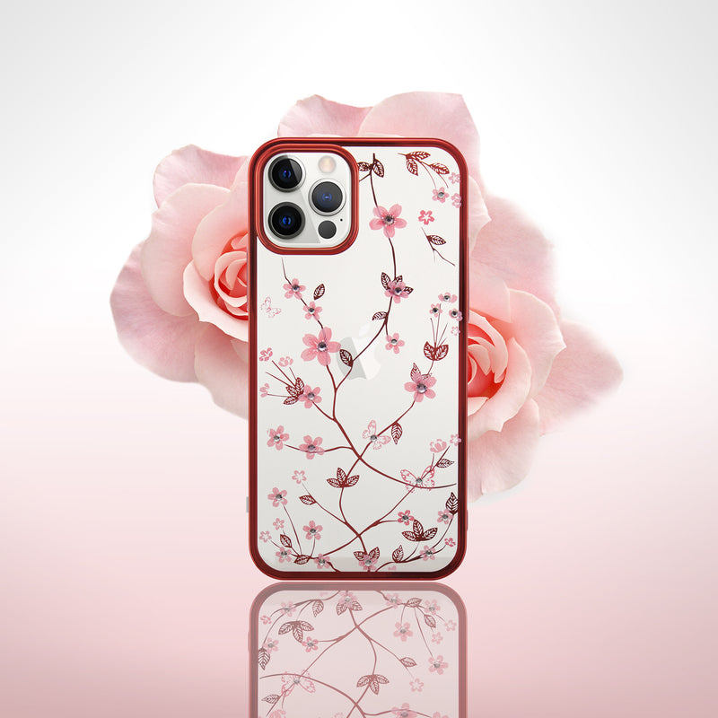 Luxury Flowers Electroplated Diamond Phone Case - Narce Cases