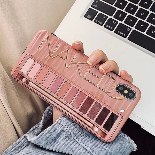 Glossy Naked Makeup Eyeshadow Palette Phone Case - Narce Cases