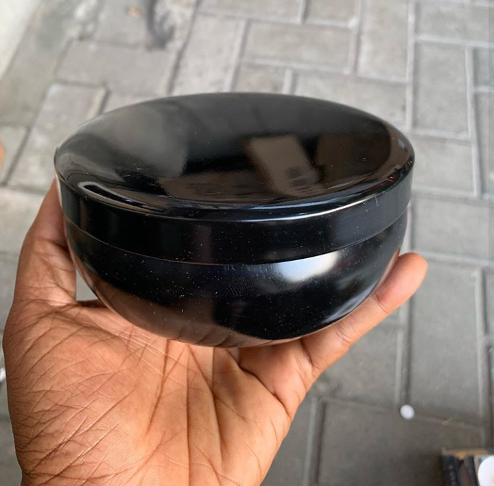 500ml Black Tin Container with cover