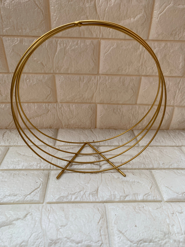 Gold Metal hoops