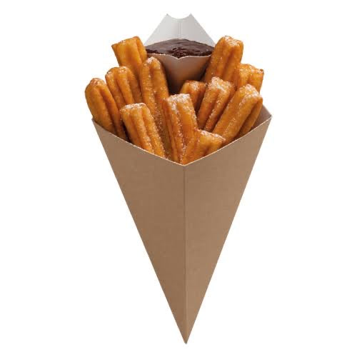 Kraft cones with sauce compartment