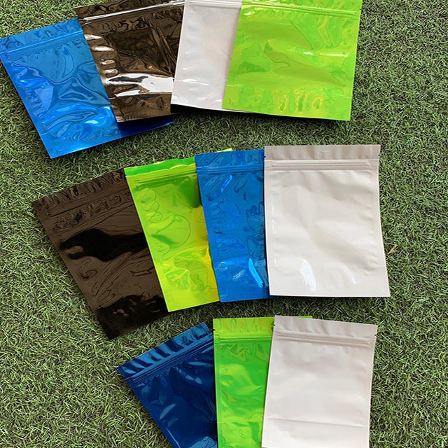 Colored Foil upright zip pouches