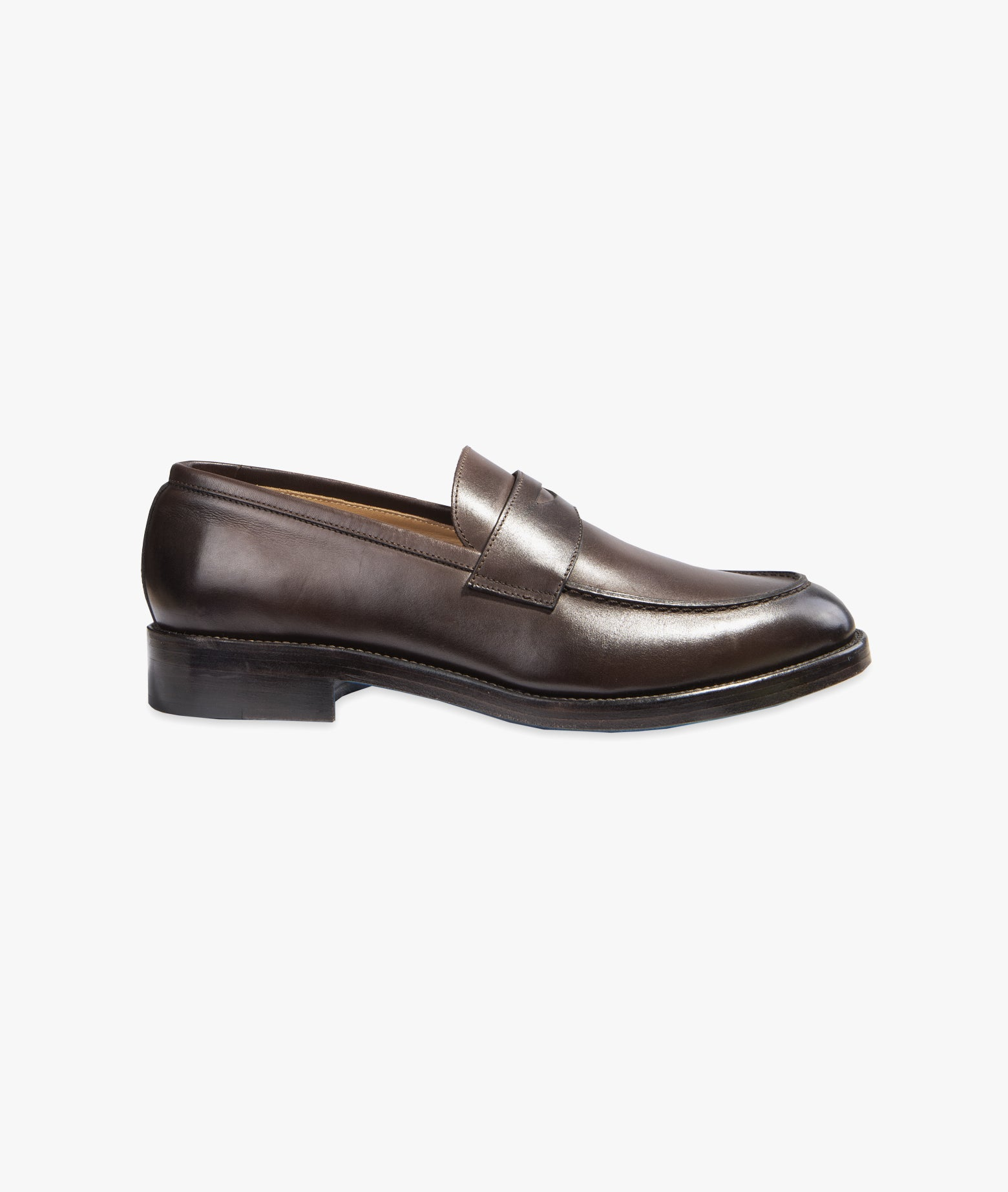 "Leather Penny Loafer ""Sempione"""