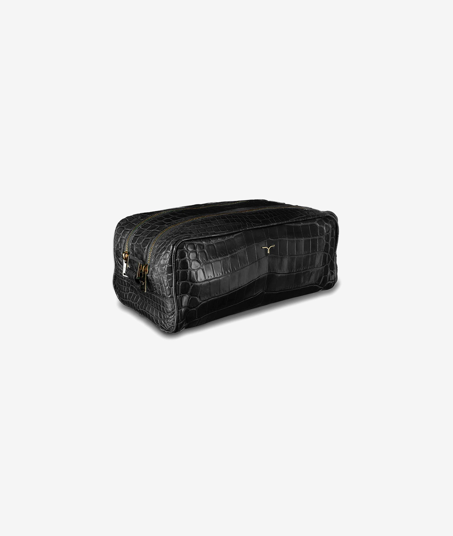 Crocodile leather beauty case