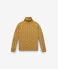"Cable Knit Turtleneck Sweater ""Col du Pillon"""