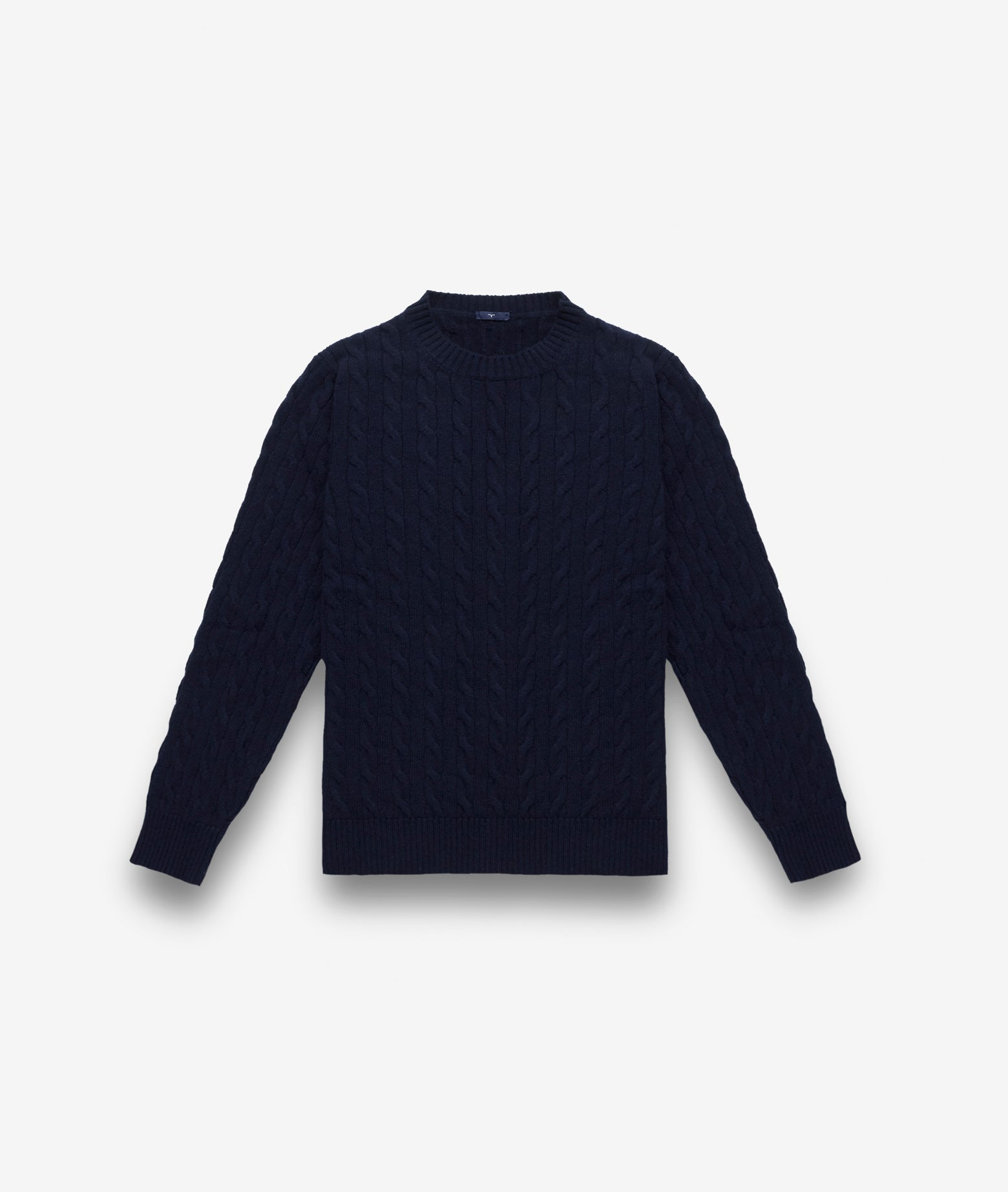 Small cable round neck