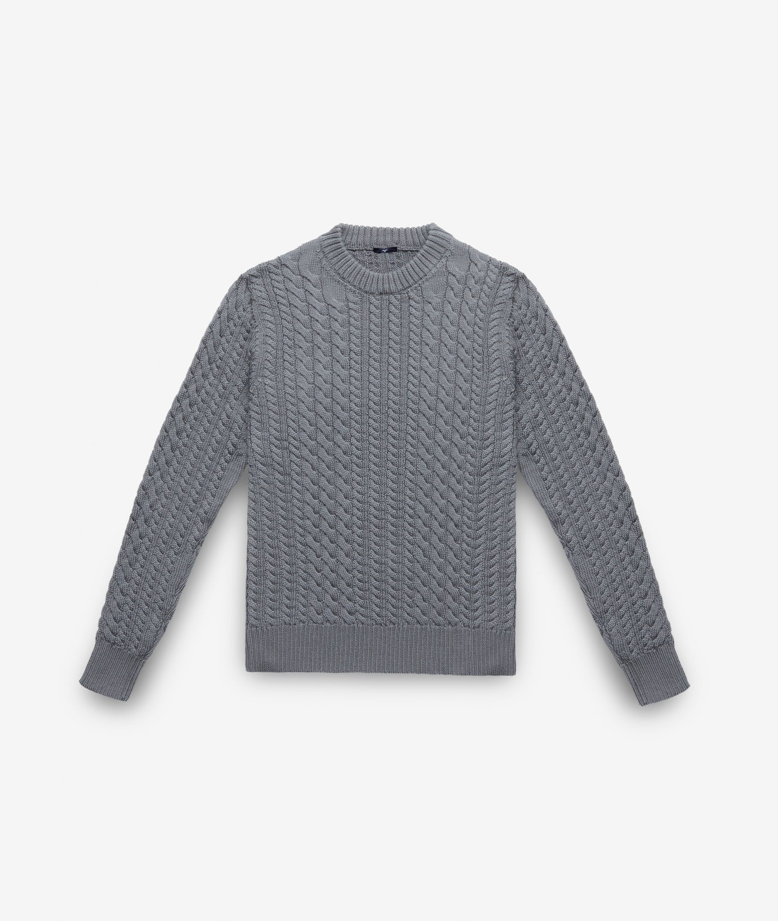 "Cable Knit Sweater ""Col du Pillon"""