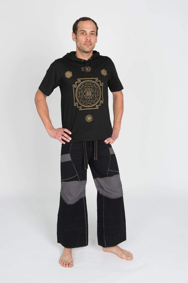 Buddhaful Men's Pants Black w/Grey Pockets / M Ninja Pants