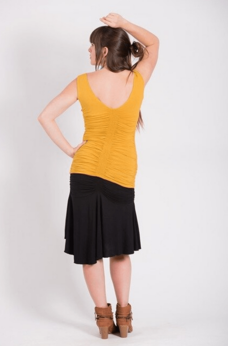 Leom Designs Shirt Mustard / XS Hati Ruched Tank Top