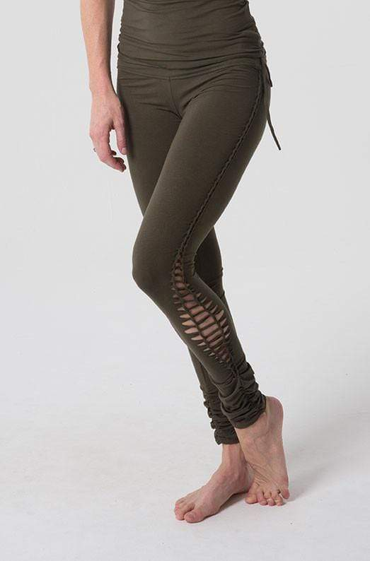 Queen of Hearts Leggings Audrey Full Length Leggings with Lacing