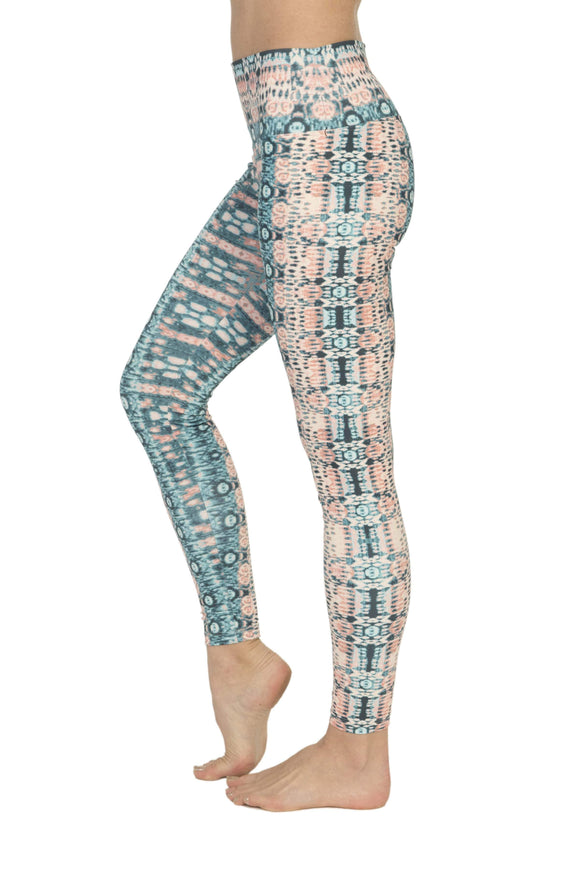 Sunshine Manufacturing Apparel XXXL High Waist Yoga Leggings // Green + Pink Psychedelic Print