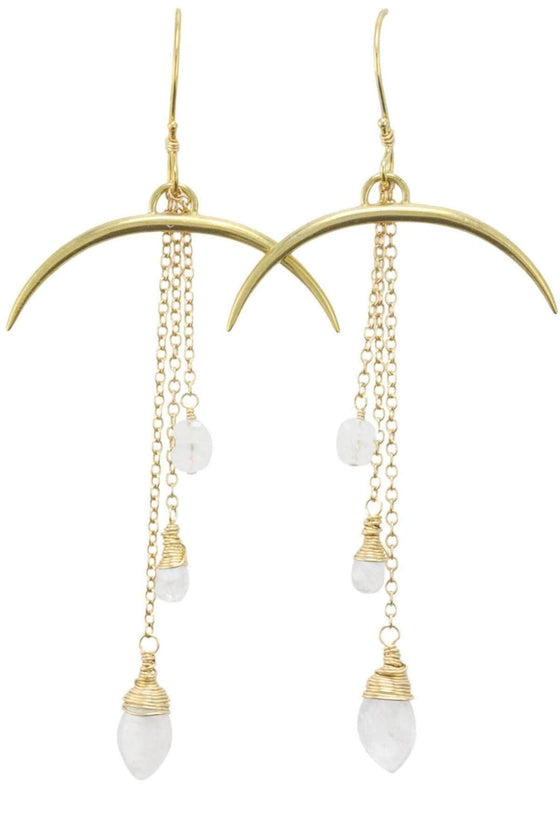 The OM Collection 14k Gold Fill Bohemi Horn Earrings