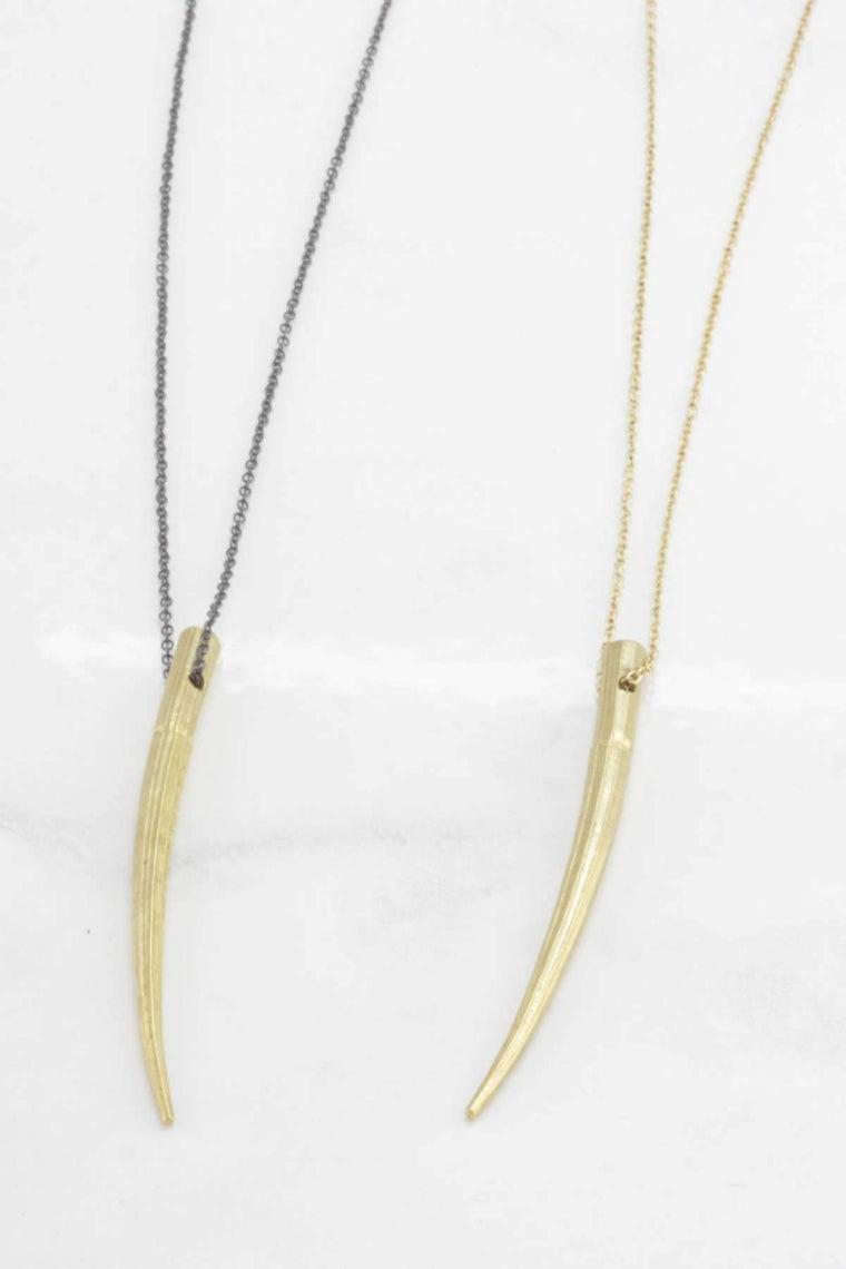 "The OM Collection 18"" / Oxidized (black) Silver Bohemi Calyx Necklace"