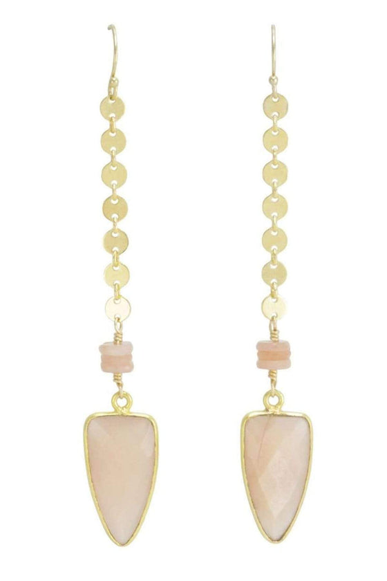 The OM Collection Bohemi Arundo Earring-Moonstone